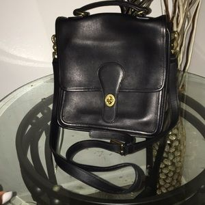 Vintage coach black satchel bag